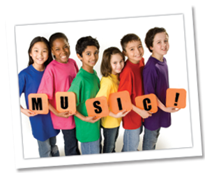 children and music sign